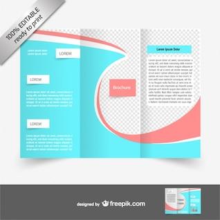 Vector tri-fold brochure free download