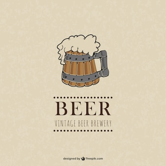 Vector vintage beer illustration