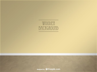 Vector wooden 3d space realistic design