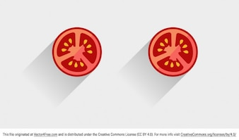 Vegetable tomato slice vector