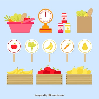 Vegetables and fruits market