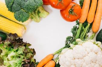 Vegetables forming circular space
