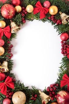 Vertical christmas wreath border