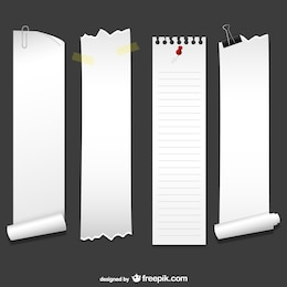 Vertical sheets of paper