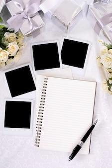 Vertical wedding photograph