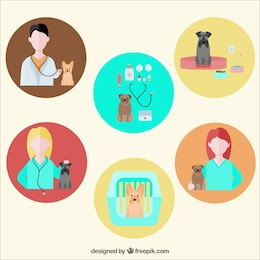 Veterinarian icons