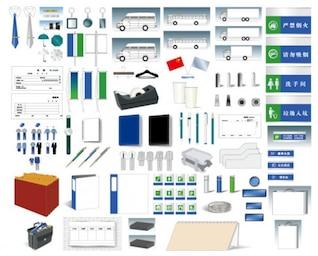 vi design templates   a comprehensive   vi elements  ai format  vector