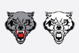 Vicious wolf graphic set