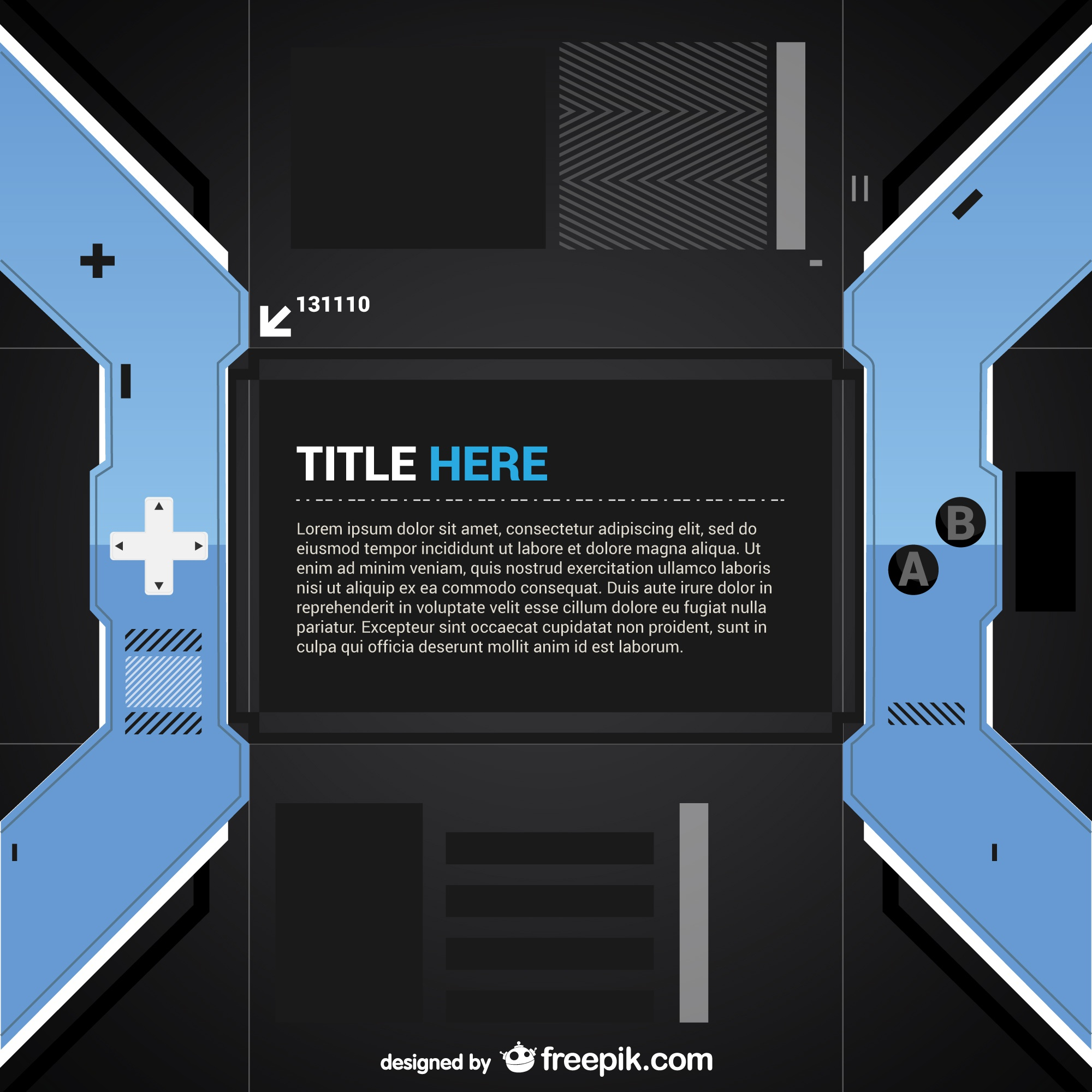 Video game controller template