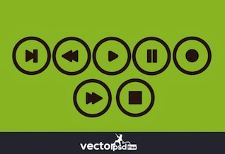 Video player button icons pack