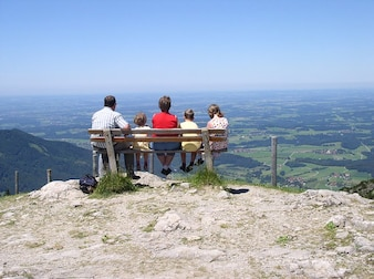 View mountain alpine aschau kampenwand chiemgau