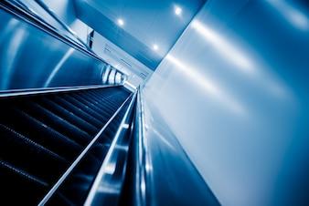 View of Escalator in an underground station