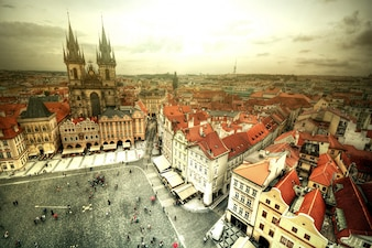 View of Old Town in Prague.
