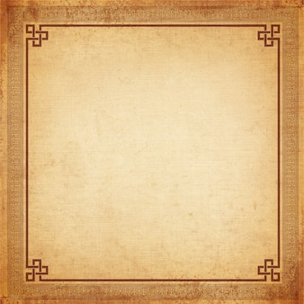Vintage background, chinese frame old canvas texture