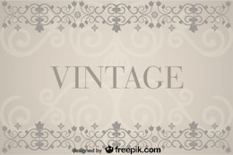 Vintage Background with Floral Retro Decorations