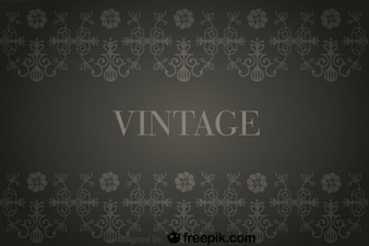 Vintage Background with Flowers Retro Decorations