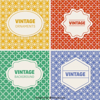 Vintage backgrounds collection
