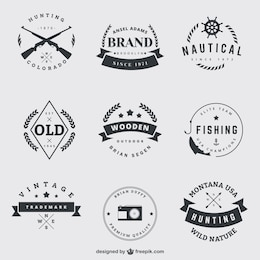 Vintage badges pack