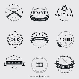 Vintage badges pack