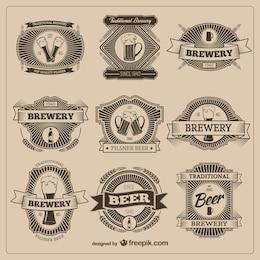 Vintage beer badges