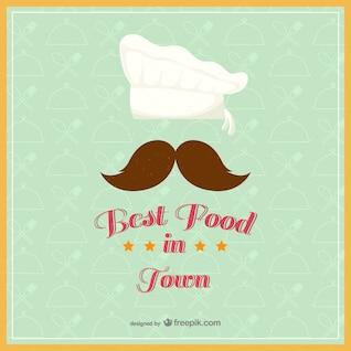 Vintage best food in town vector