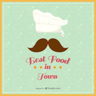 Vintage best food in town vector