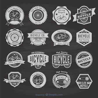Vintage bicycle stickers