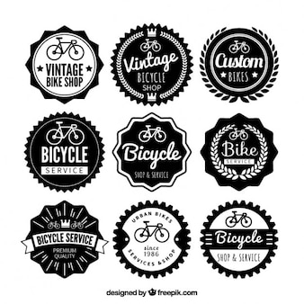 Vintage bike badges collection