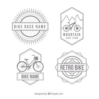 Vintage bikes badges