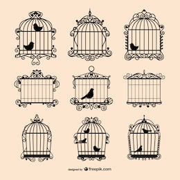 Vintage birdcages collection