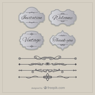 Vintage borders and labels