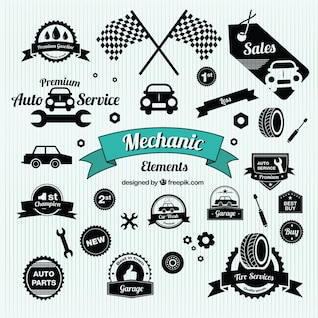 Vintage car symbols