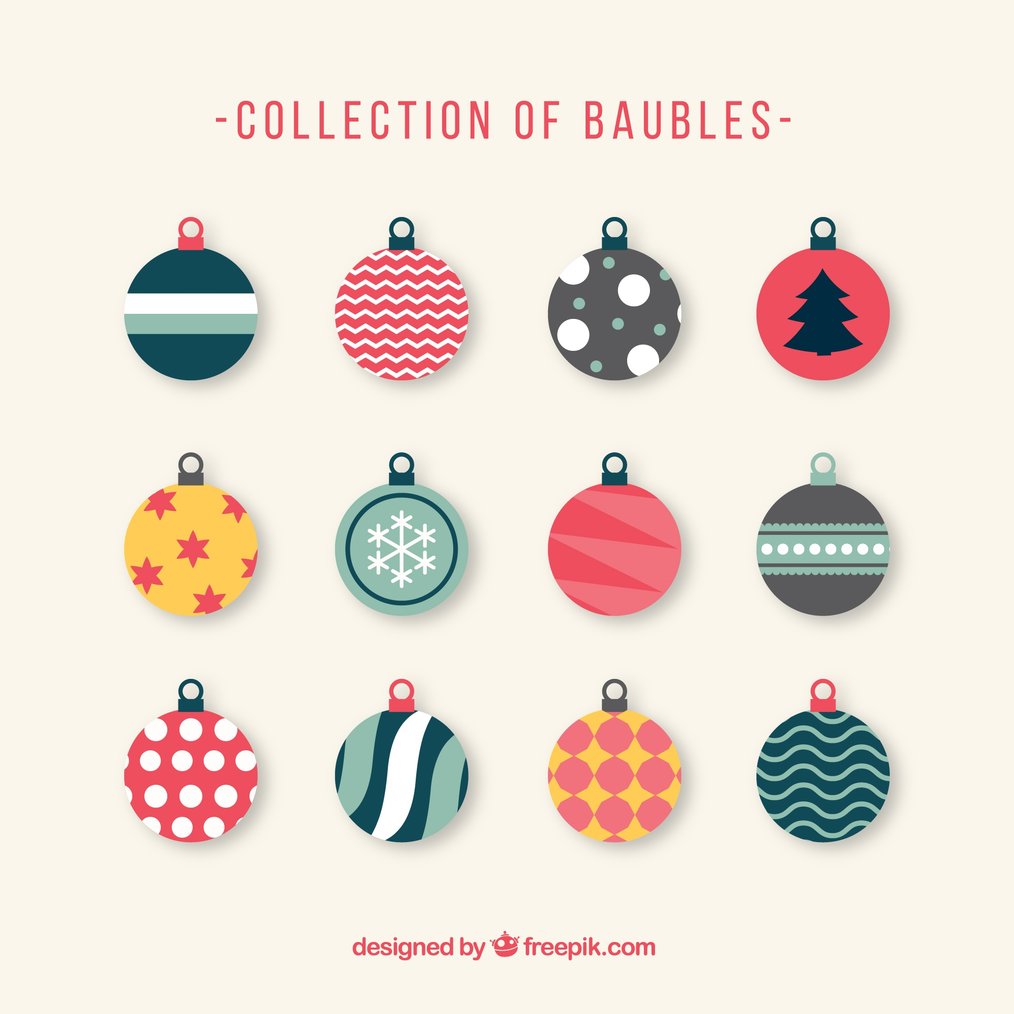 Vintage Christmas baubles collection