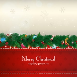 Vintage Christmas card free vector