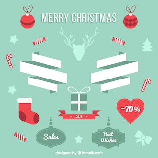 Vintage Christmas sales stickers