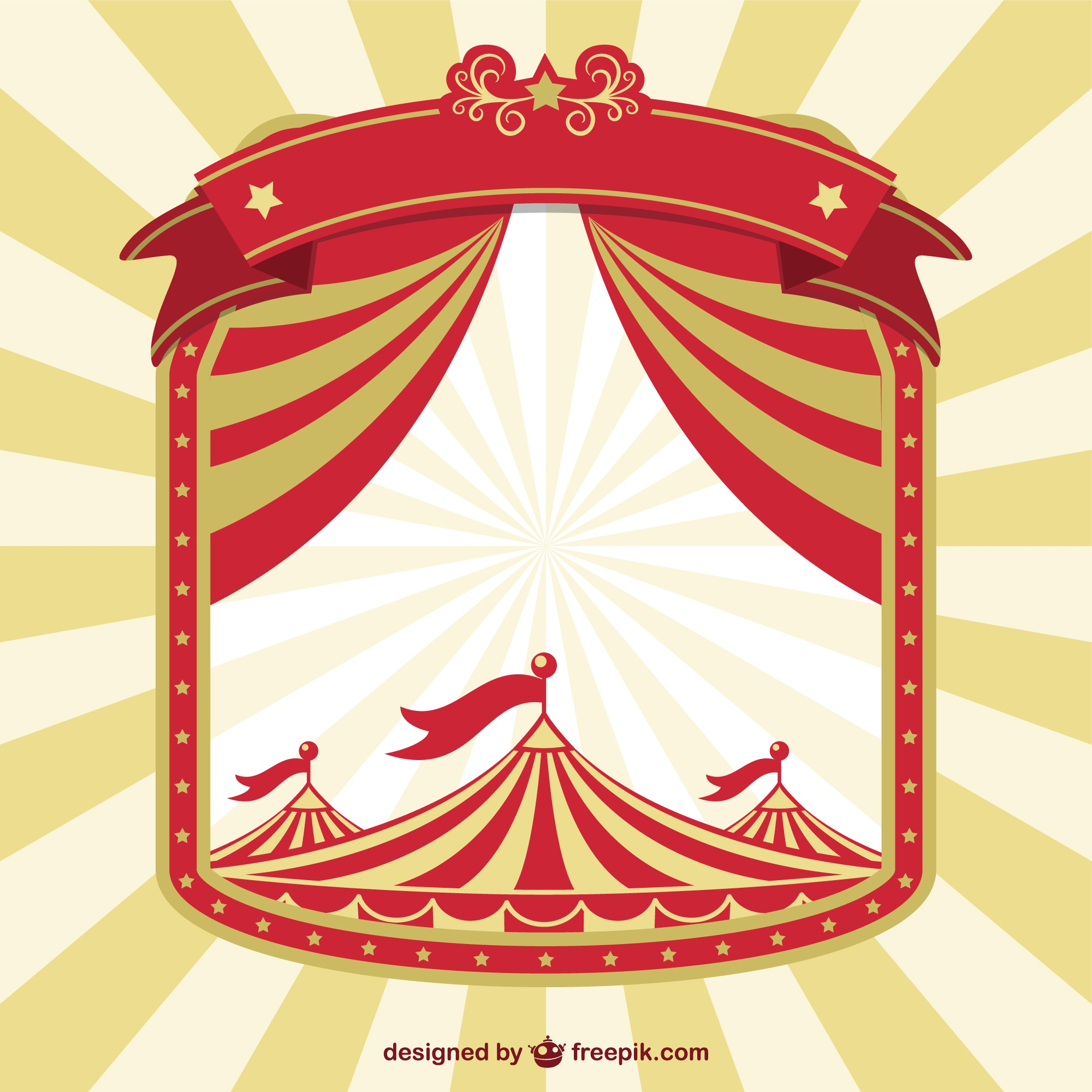 Vintage circus concept poster