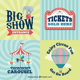 Vintage circus signs