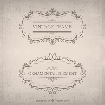 Vintage decorative badge pack