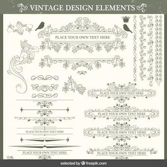 Vintage decorative collection