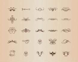 Vintage decorative patterns vector set