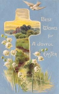 vintage easter greeting card  typography