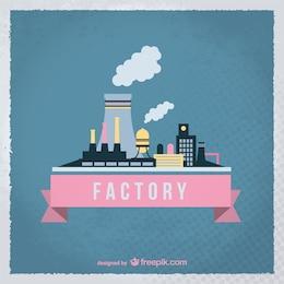 Vintage factory vector
