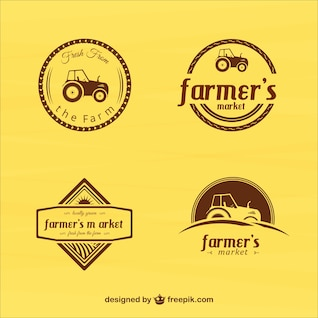 Vintage farmers market badges