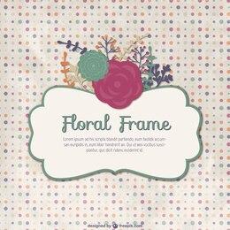 Vintage floral frame template