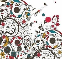 vintage floral vector art