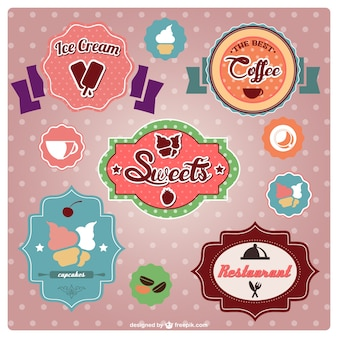 Vintage food stickers