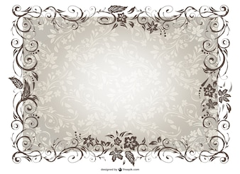 Vintage frame vector