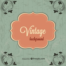 Vintage free floral corners background