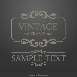 Vintage gilded frame vector