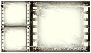 Vintage grunge frames background